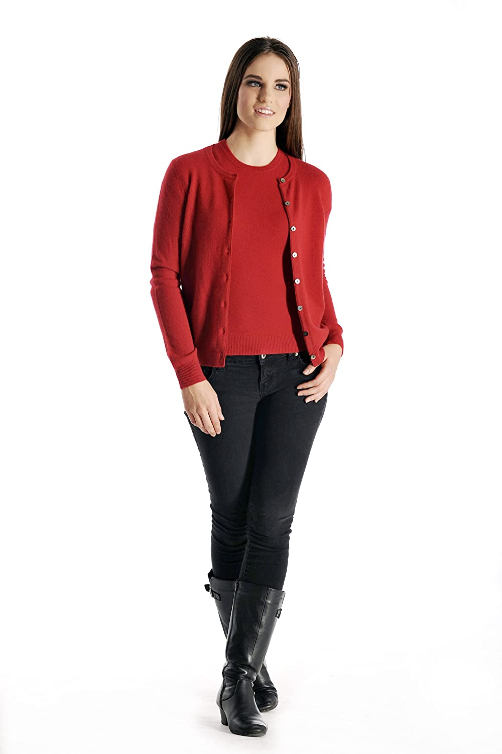Women's Cashmere Cardigan Twin Sweater Set at Amazon Women's ...