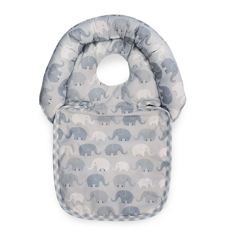 Boppy Noggin Nest Head Support for Infants, Gray Elephant Plaid
