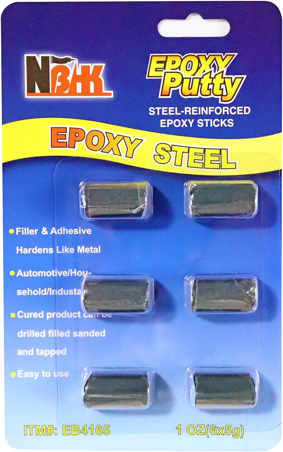 Barra Epóxica, XUDOAI Epoxi Adhesivo Metal, Plástico, Fibra de Vidrio, Sello de Relleno de Reparación de Agujeros de Grietas de Cerámica
