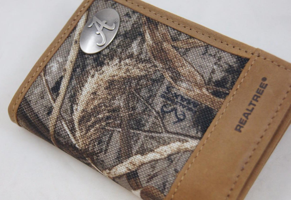 ZEP-PRO NCAA Alabama Crimson Tide Realtree Nylon/Leather Trifold Concho Wallet