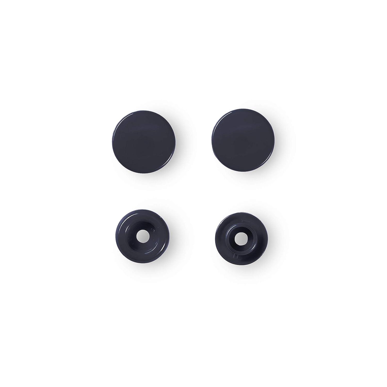 12.4 mm Kunststoff Prym 393102 N/ähfrei Druckknopf Color Snaps rund 12,4 mm Marine