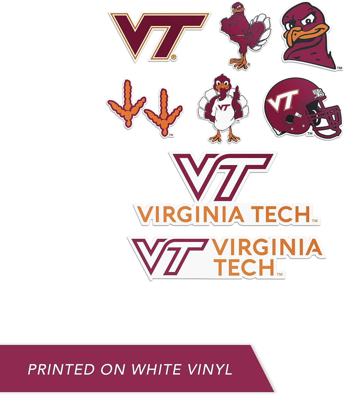Type 2 Sheet Virginia Tech University NCAA Sticker Vinyl Decal Laptop Water Bottle Car Scrapbook