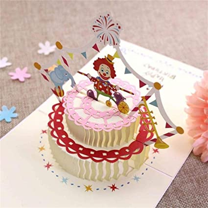 Cool Handmade 3D Pop Up Happy Birthday Card Cake Greeting Card With Funny Birthday Cards Online Fluifree Goldxyz
