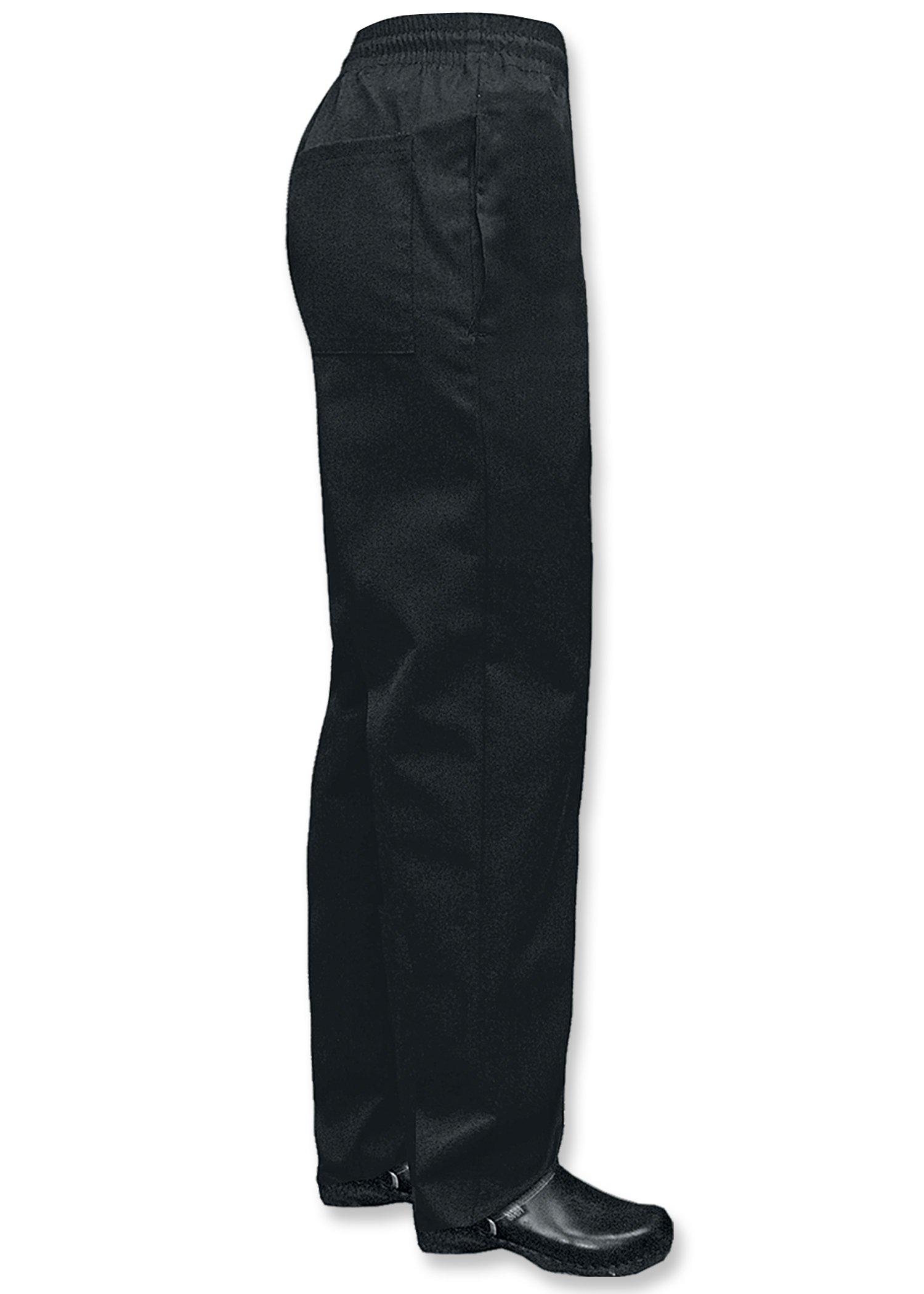 Newchef Fashion Black Ladies Chef Pants M Black