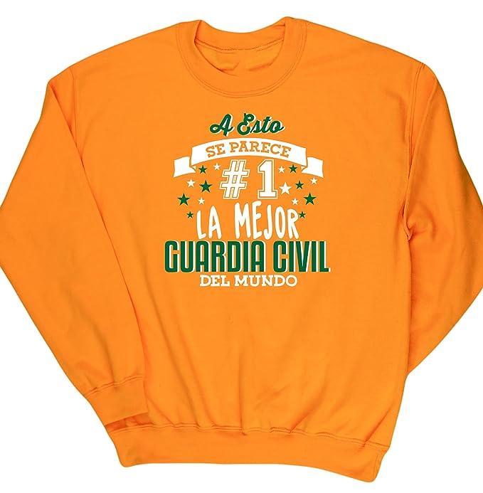 HippoWarehouse A Esto Se Parece #1 La Mejor Guardia Civil Del Mundo jersey sudadera suéter derportiva unisex: Amazon.es: Ropa y accesorios