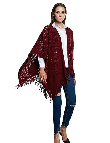 Femmes Tricoter Chale,Kimono Cardigan Cape Wrap Couvrez-vous Pashmina  Echarpe(Taille unique,Marine)  Amazon.fr  Vêtements et accessoires 2ec1f4cd215