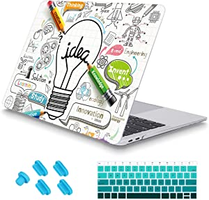 May Chen MacBook Air 13 Inch Case 2018 2019 2020 Release A1932 A2179 with Touch ID Retina Display, Plastic Clear Hard Shell,Creative lamp Pattern, Keyboard Cover and Dust Plug (Creative lamp)