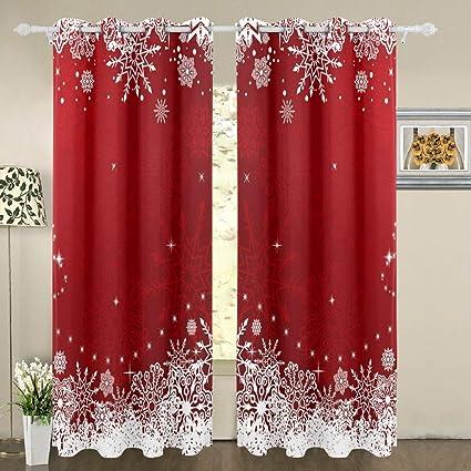 Amazoncom My Little Nest Blackout Window Curtains Red White