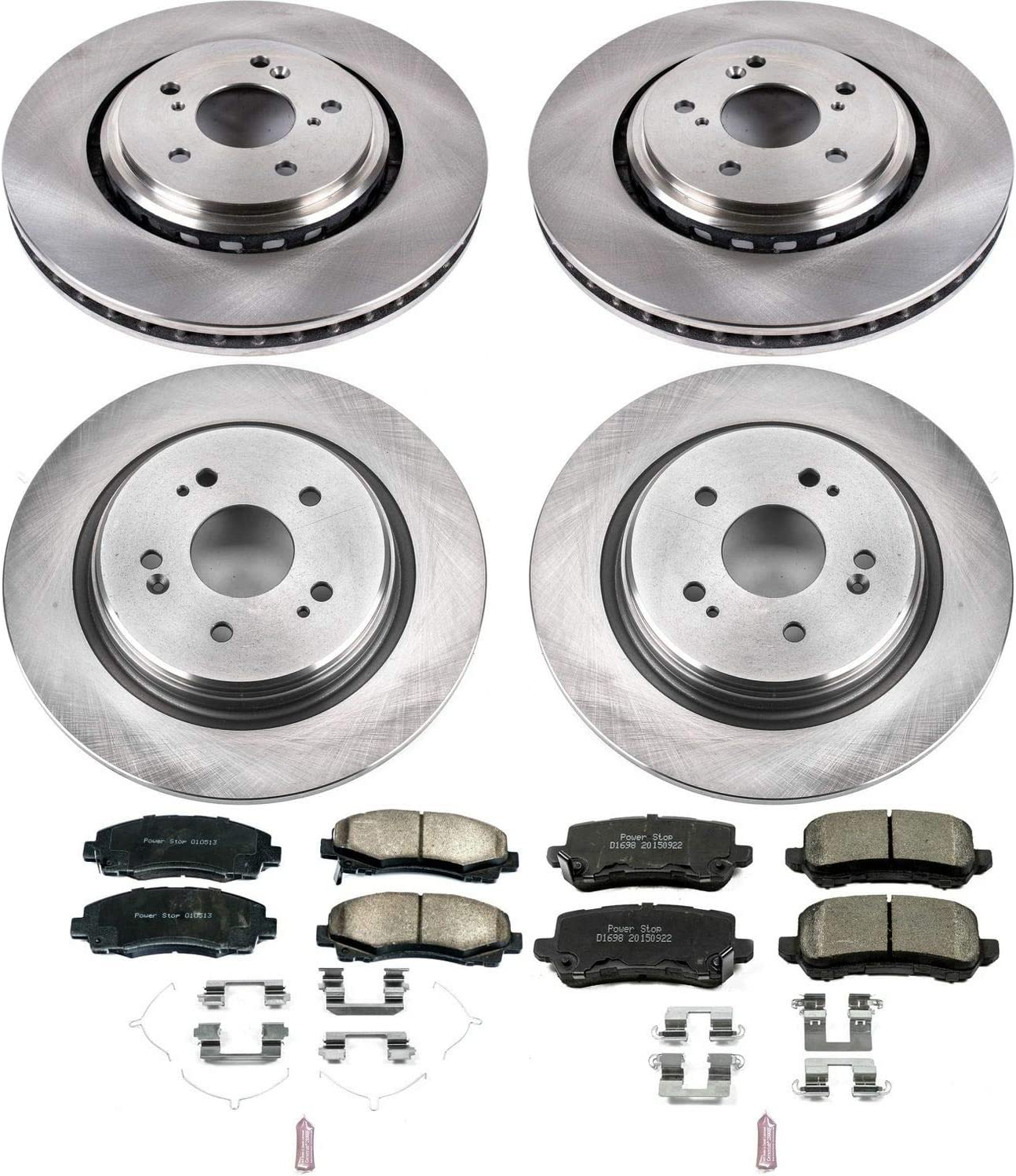 Power Stop K6026 Front Z23 Evolution Kit with Drilled//Slotted Rotors and Ceramic Brake Pads