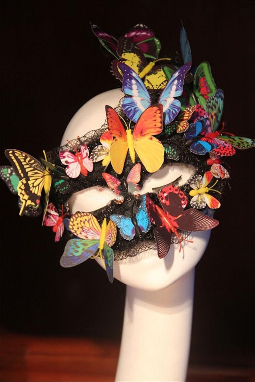 Unbekannt Jack Mall- Europäischen und amerikanischen Luxus übertrieben bildmäßigen Fotografie Schmetterling Maske Tanz Requisiten Halloween-Maskerade-Maske (Design   Rescent Butterfly Mask) B01KXE0FI4 Masken für Erwachsene Schnelle Li