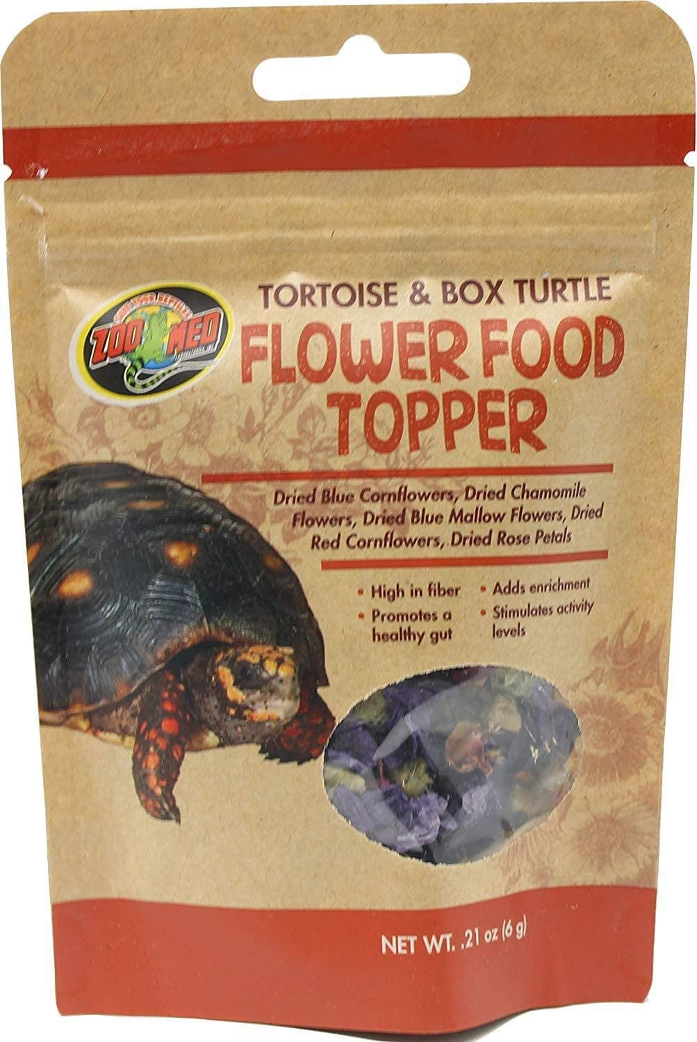 Zoo Med 690723 Tortoise & Box Turtle Flower Food Topper, 0.21 oz, Assorted