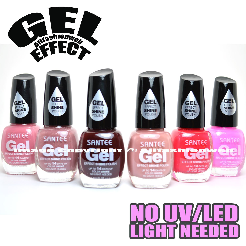 Amazon.com : SANTEE 6 GEL EFFECT SHINE NAIL POLISH NO UV/LED LIGHT ...