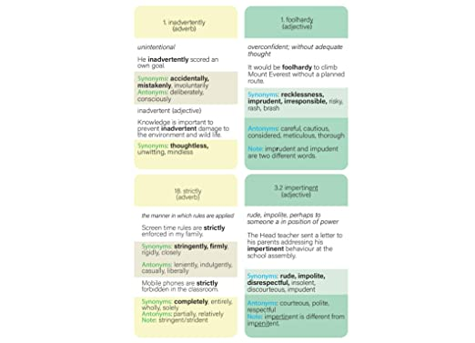 11+ Vocabulary Flash Cards for Verbal Reasoning: Cloze Sentences, Synonyms,  Antonyms and Homonyms, Opt-in (Wallet for up to 11 Vocabulary Flashcards