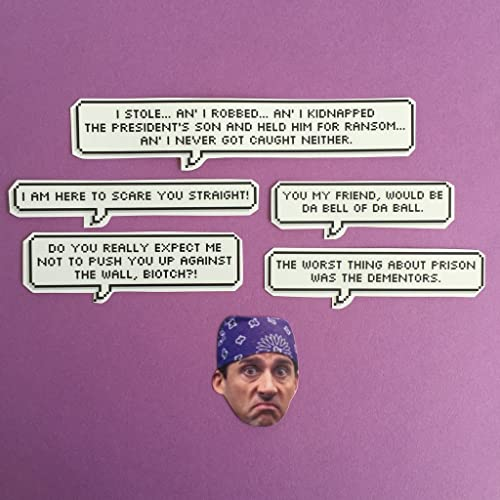 Amazoncom Prison Mike Quotes The Office Sticker Set Handmade