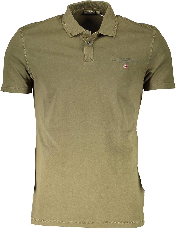 Napapijri Men's Elli Polo Shirt Green (Green Way Gw11)