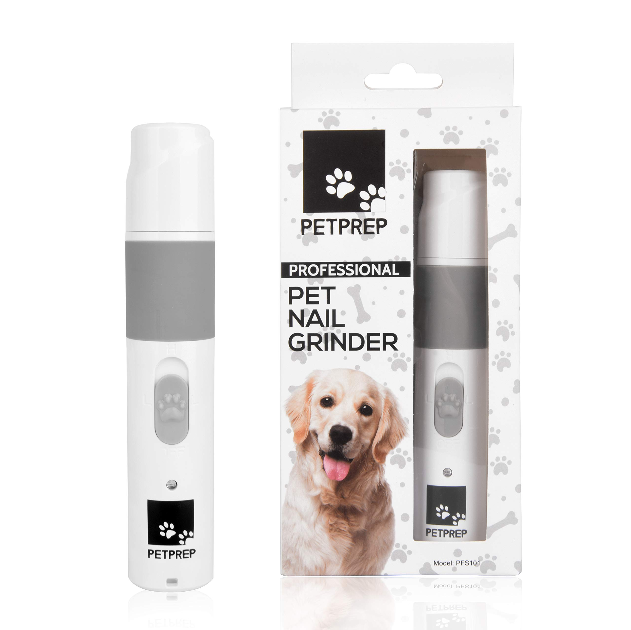 Pet Prep Cordless Pet Nail Grinder for Gentle & Painless Nail Grooming, Trimming, Shaping, Grinding and Smoothing for Dogs, Cats, Rabbits, Birds & Small Animals, Portable & Rechargeable