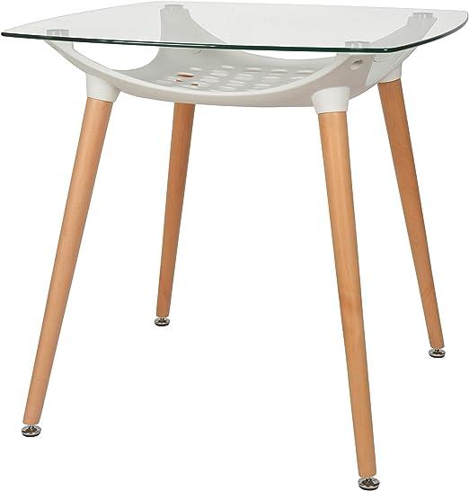 ts-ideen Diseño Mesa Vidrio Templado de 8 mm Comedor Madera de ...