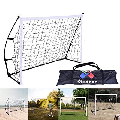 Vibolaa Portable Soccer Goal Set,Folding Single Door Soccer Child Adolescent Practice with Carry Bag,Backyard Training Youth Soccer Goal Set [Ship from USA Directly]: Toys & Games