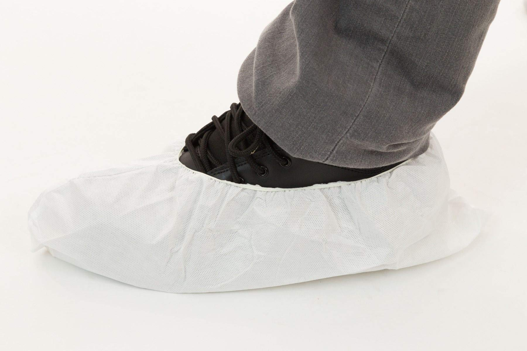 Body Filter 95+ Disposable Shoe Covers (White) | Breathable Cool Material - Protective Body Suit for Dust, Spray Paint, Insulation, and More (Case of 200) by BODY FILTER 95+ (Image #2)