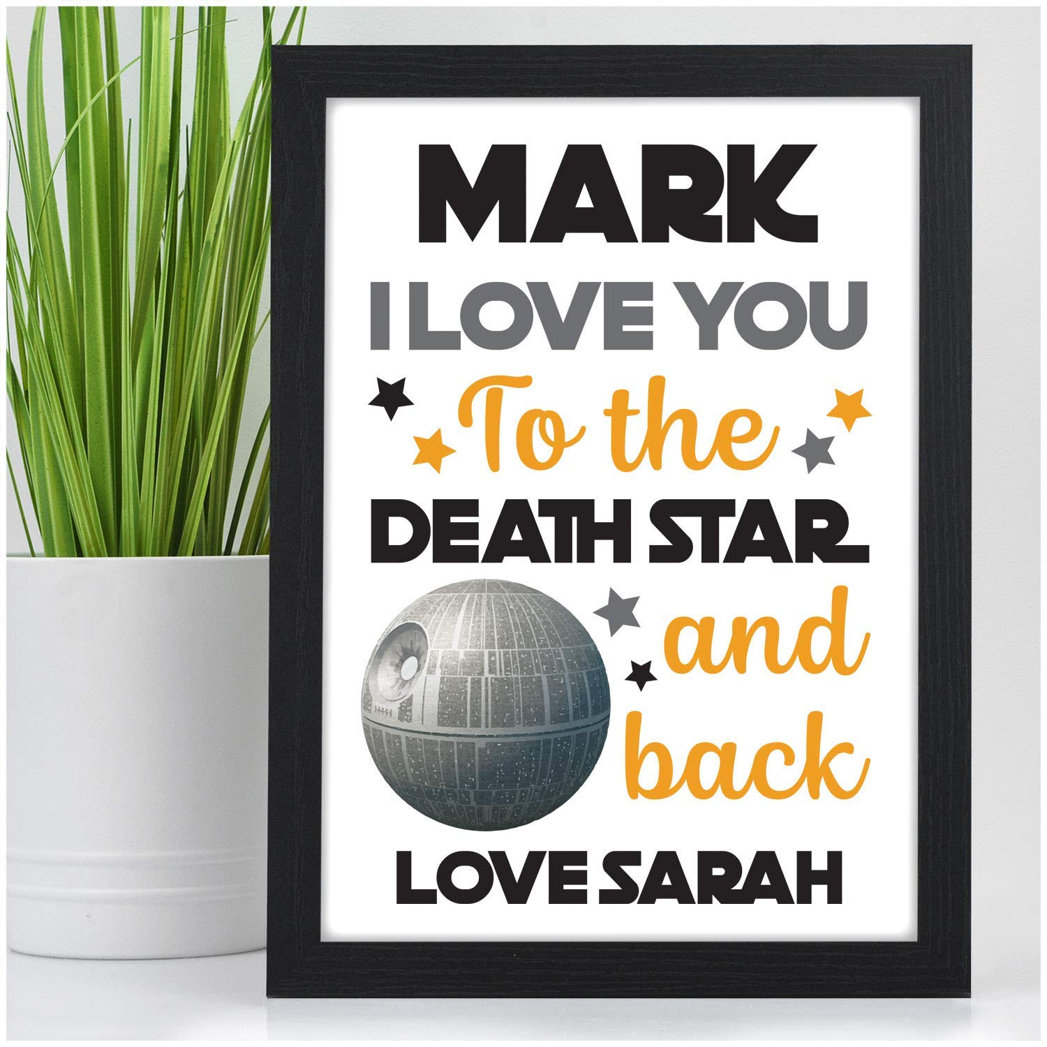 Custom Print Gifts for Her Birthday Husband Girlfriend Personalised Sci Fi Valentines Day Boyfriend or Partner Him Engagement or Wedding Anniversary Gifts for Couples ANY Occasion Wife