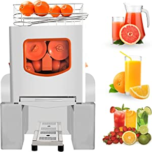 Commercial Orange Juicer Machines, Heavy Duty Professional Automatic Citrus Juicer with Faucet and Pull-Out Filter Box, Electric Juice Squeezer for Oranges Lemons Citrus, 20-30 Oranges Per Min