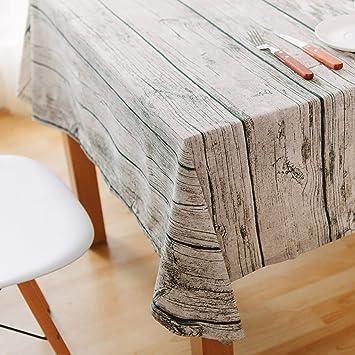 Amazon.com: WGZOJOPD Mantel de algodón y lino para mesa de ...