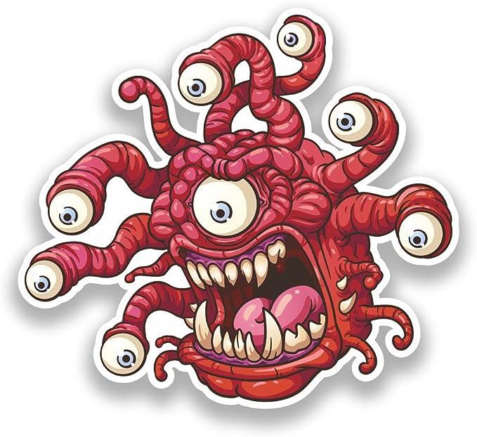 2 x Pegatinas de vinilo de miedo Monstruo ojos Halloween Scary # 7329: Amazon.es: Juguetes y juegos