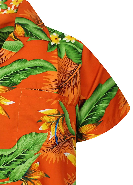 Hawaiian Shirt for Men Funky Casual Button Down Very Loud Shortsleeve Unisex Bird of Paradise Flower