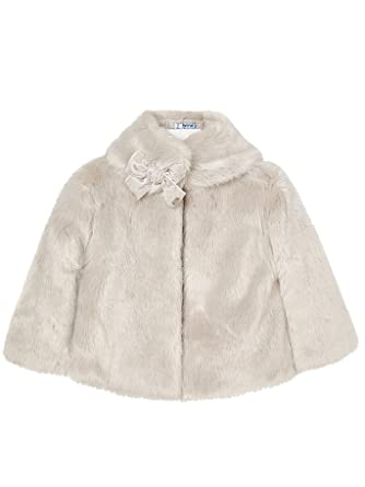 Mayoral 18-04494-092 - Fur Coat for Girls 2 Years Stone