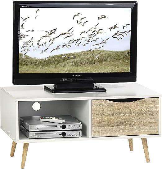 TV – Cómoda TV Rack mueble HiFi Muebles Televisión mesa mesa ...