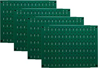 product image for Pegboard Wall Organizer Tiles - Wall Control Modular Metal Pegboard Tiling Set - (4) 12-Inch Tall x 16-Inch Wide Green Peg Board Panel Wall Storage Tiles - Easy to Install (Green)