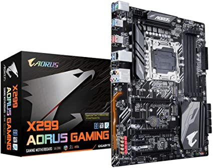Gigabyte Motherboard X299 AORUS Gaming X Series S2066 X299 64GB PCI Express ATX Retail