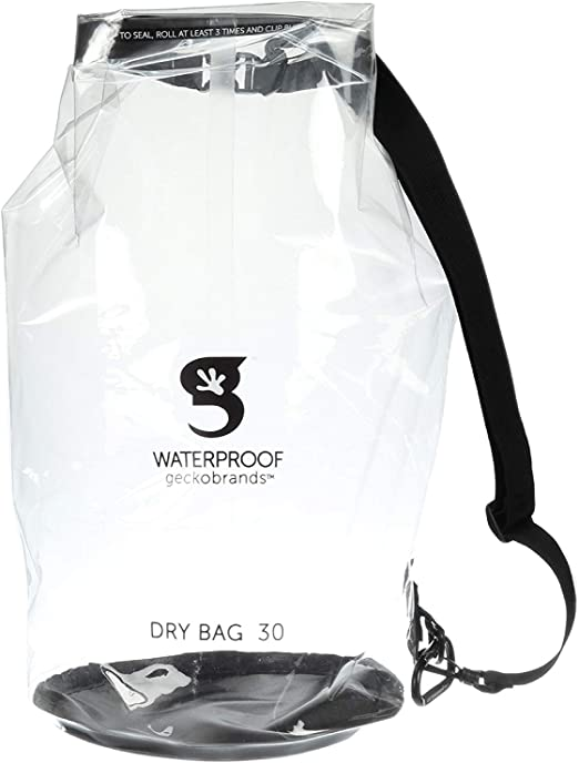 Details about  /GECKOBRAND DURABLE VIEW WATERPROOF DRY BAG 5L NEW WITH STRAP BONUS CARABINEER