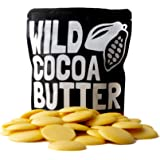 Raw Cocoa Butter Wafers From Organic Cacao Beans, Unrefined, Non-Deodorized, Food Grade, Fresh For Recipes, Cooking, Smoothies, Coffee, Skincare, Haircare