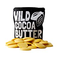 Raw Cocoa Butter Wafers From Organically Grown Cacao Beans, Unrefined, Non-Deodorized, Food Grade, Fresh For Recipes, Cooking, Smoothies, Coffee, Skincare, Haircare (4 ounce)