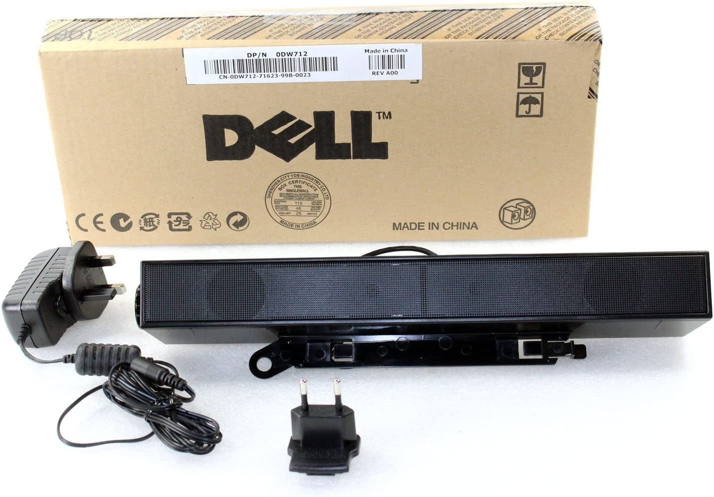 Dell AX510PA E Series Flat Panel Stereo Sound Bar with Power Adapter