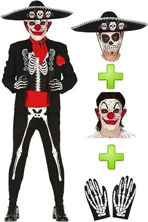 Disfraces Halloween Disfraz de Catrino Payaso: Amazon.es: Ropa y ...