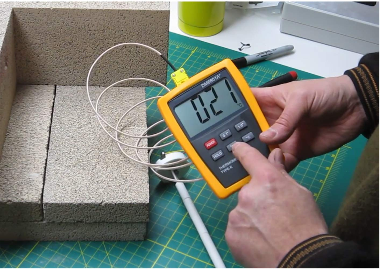 K Type 0-400C Temperature Sensor Thermocouple Probe Copper Wire 4M 1PCS