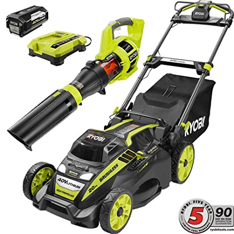 Amazon.com: Ryobi 20.0 in 40 V inalámbrico de iones de litio ...