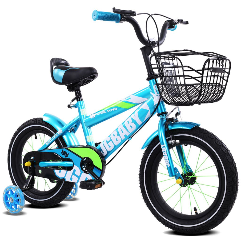 子供用自転車2-4/3-5/4-7ベビー用ベビーキャリア12/14/16インチ子供用自転車合金ペイントフレーム、ロイヤルブルー/パープル/ローズレッド/スカイブルー (Color : 16 inch sky blue) B07D29JPFV