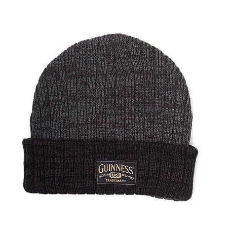 9190f172156 ... on sale 71d89 70bd7 Guinness Acrylic Beanie Hat with Logo (Dark Grey  Black) Amazon ...