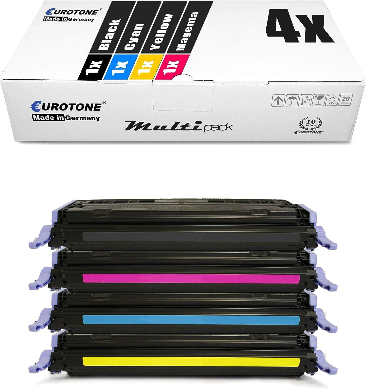 4x Eurotone Kompatibler Toner Für Hp Color Laserjet 1600 2600 2605 Dn N Dtn Ersetzt Q6000a 03a 124a Bürobedarf Schreibwaren