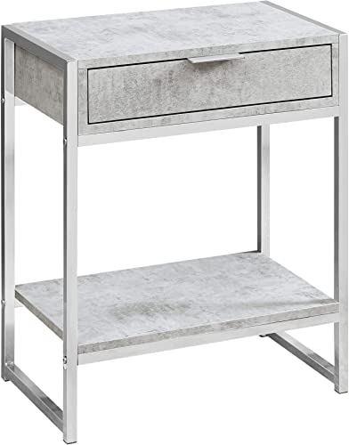 Monarch Specialties I Accent, END Table, Night Stand, GREY