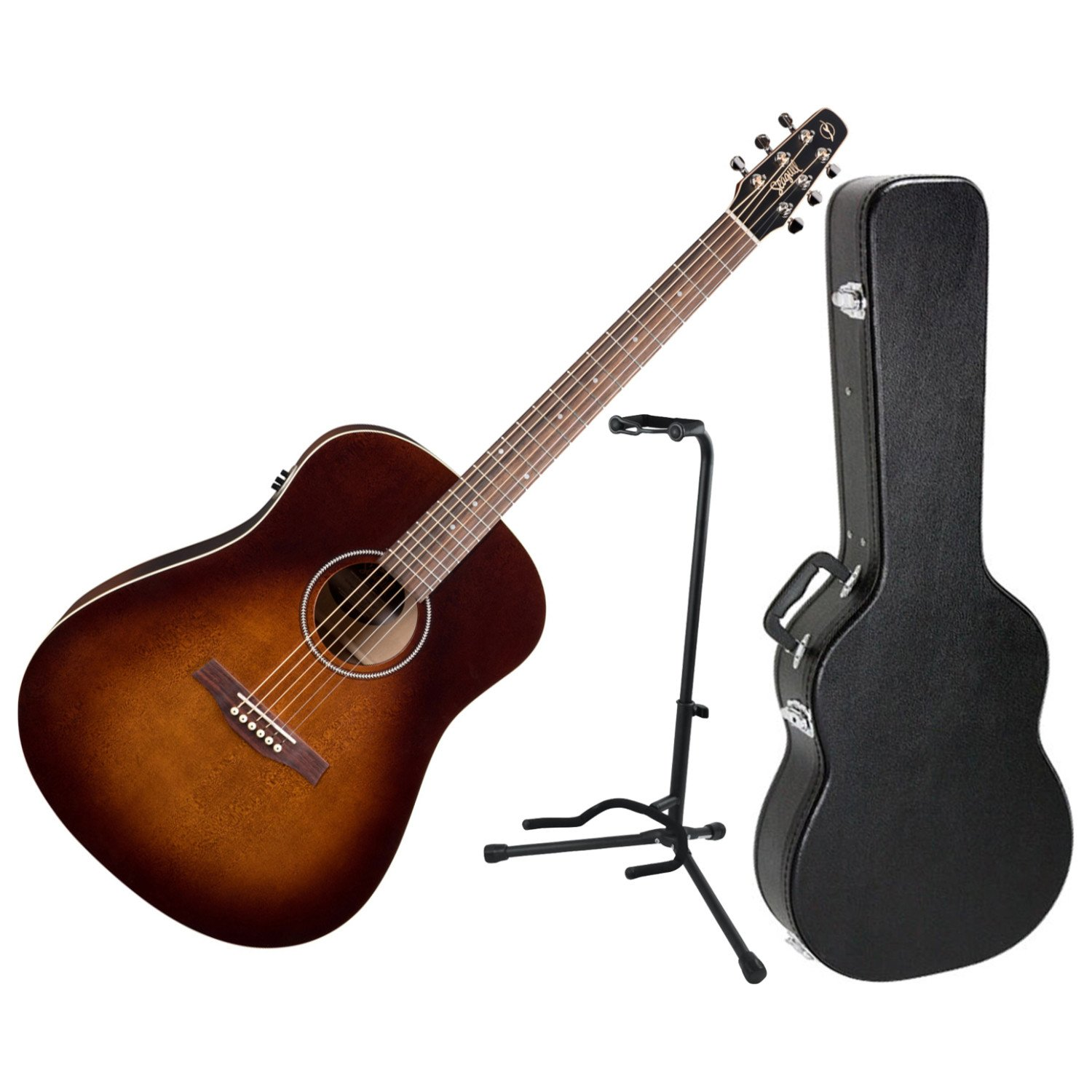 Seagull S6 Original Burnt Umber QIT Acoustic-Electric Guitar (Open Box) by Seagull
