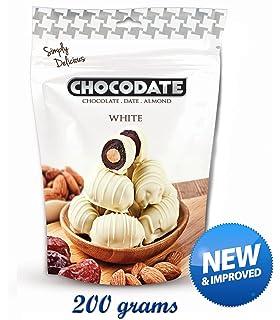 Chocodate - Dátiles de chocolate blanco con almendras - 200 g