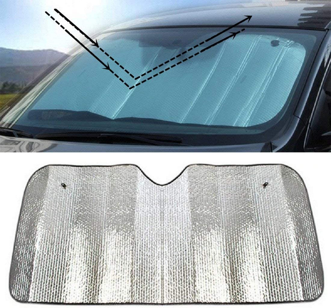 jingyuu 1/Pcs Universal Reflektierende Windschutzscheibe Aluminiumfolie Sun Block Auto Vorne Fenster