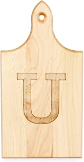 product image for J.K. Adams Q-Tee Cut-Up Sugar Maple Wood Cutting Board, 7-1/2-inches by 4-inches, Alphabet Series, U