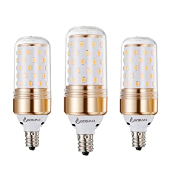 Bogao Pack de 3 bombillas E14 LED de tipo Maíz 12 W Luz blanca cálida LED