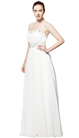 atopdress @039 Ball prom sequined gown evening dress party wear Bridemaids (12, ivory