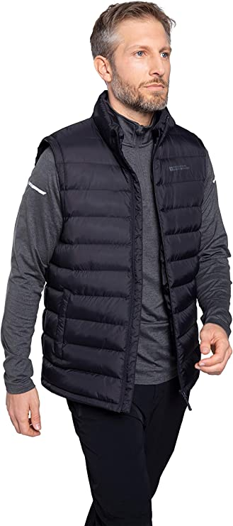 Mountain Warehouse Mens Microfleece Gilet with Breathable and Quick Drying